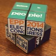 Rubik-kockán reklámozza magát az Európai Néppárt