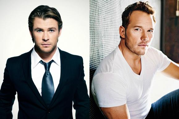 Chris Hermsworth és Chris Pratt