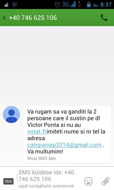Arra kérjük, hogy gondolkodjon el két személyen, aki Pontát támogatja, és nem szavazott még. Küldje el a számát és a nevét a camapaniep2014@gmail.com címre. Köszönjük.