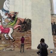 A fehér fal és a felháborodás maradt a bukaresti Szent György falfestményből