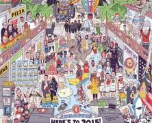 2015 egyetlen rajzban
