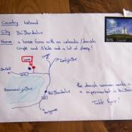 Az internet szenzációja a térképes levél, ami meg is érkezett a címzetthez