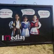 Kitették Medgyes határában a magyar-román-német pannókat