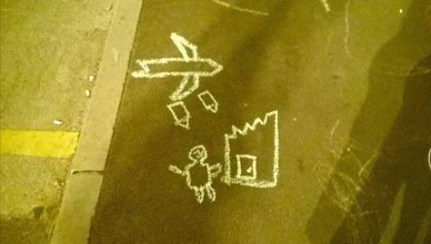 12 éves szíriai kisfiú rajza a debreceni állomáson via Kettős Mérce