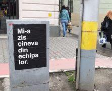 """""""Valaki a csapatukból mondta."""" Gerillamarketing Kolozsvár belvárosában"""