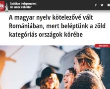 Bezöldült Románia, ezután mindenkinek meg kell tanulnia magyarul! – A TNR olvasói között voltak olyanok, akik nem díjazták a viccet